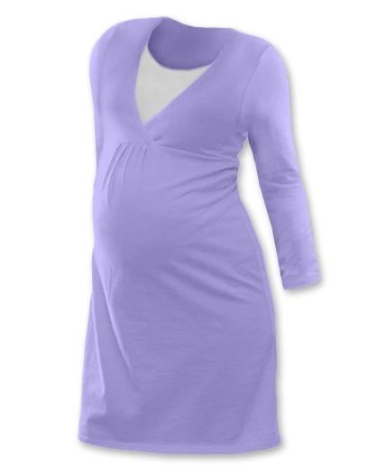 Tehotenská dojčiaca nočná košeľa  JOHANKA dl. rukáv - šeríková