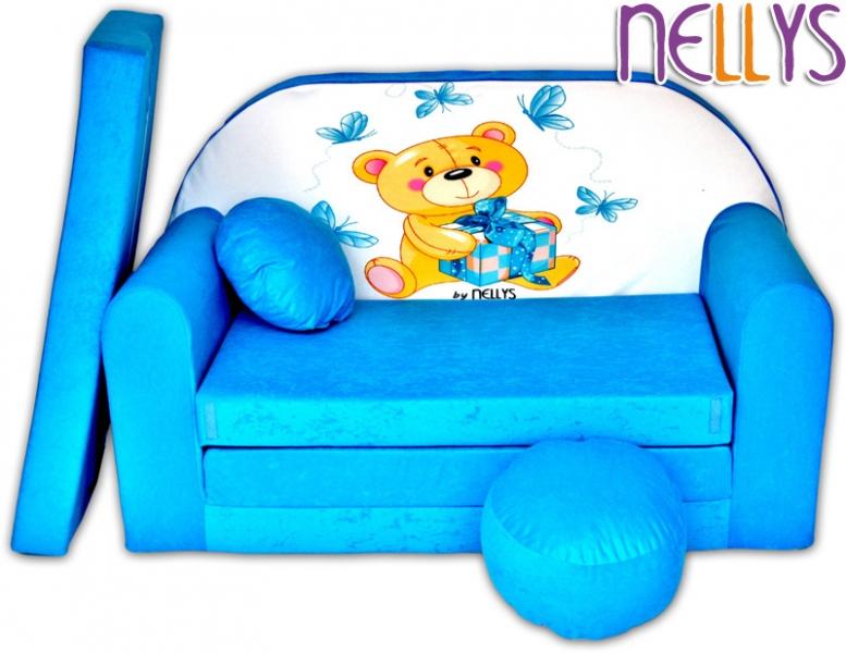 Rozkladacia detská pohovka NELLYS Míša modrý