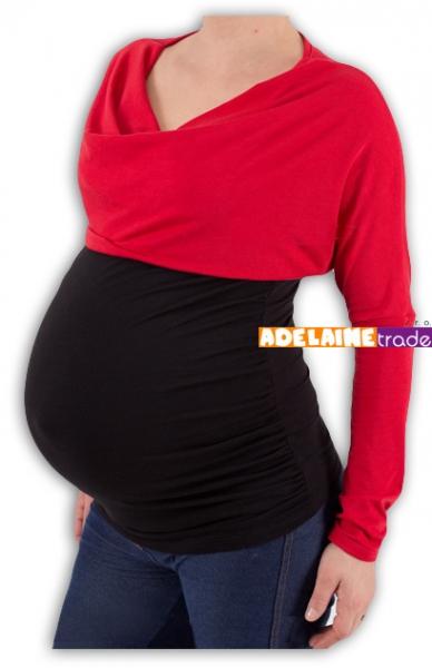 Tehotenská tunika VODA DUO - červeno-čierna