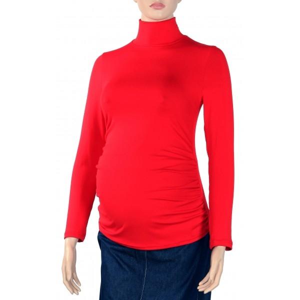 Gregx Tehotenská blúzka dl. rukáv ZOLA červená-XL/XXL