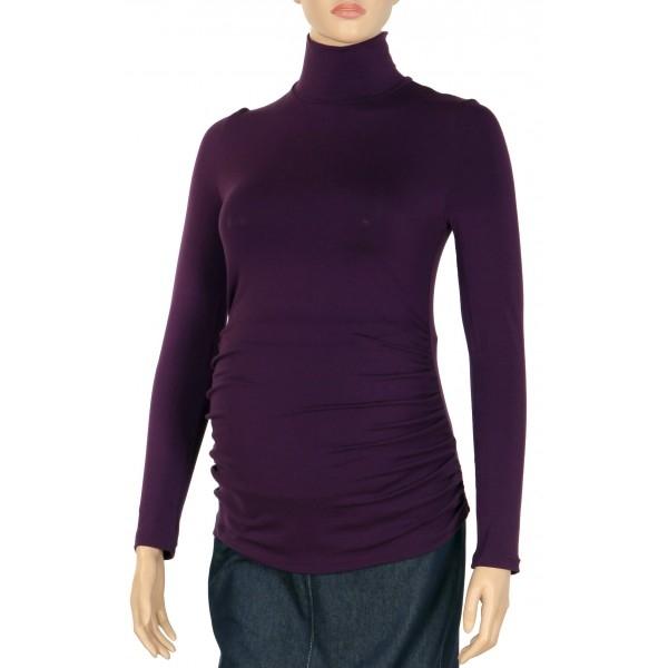 Gregx Tehotenská blúzka dl. rukáv ZOLA fialová-#Velikosti těh. moda;XS/L