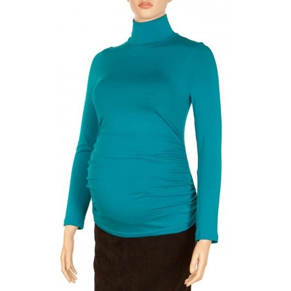 Gregx Tehotenská blúzka dl. rukáv ZOLA morská-#Velikosti těh. moda;XS/L