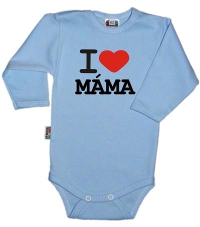 Body dl. rukáv Kolekcia I Love Mama, sv.modré, vel´. 68