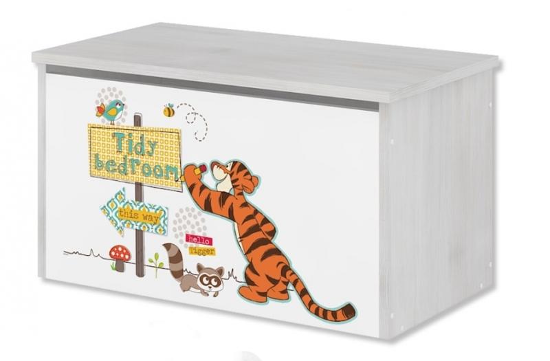 Box na hračky, truhla Disney - Medvedík PÚ a tigrík