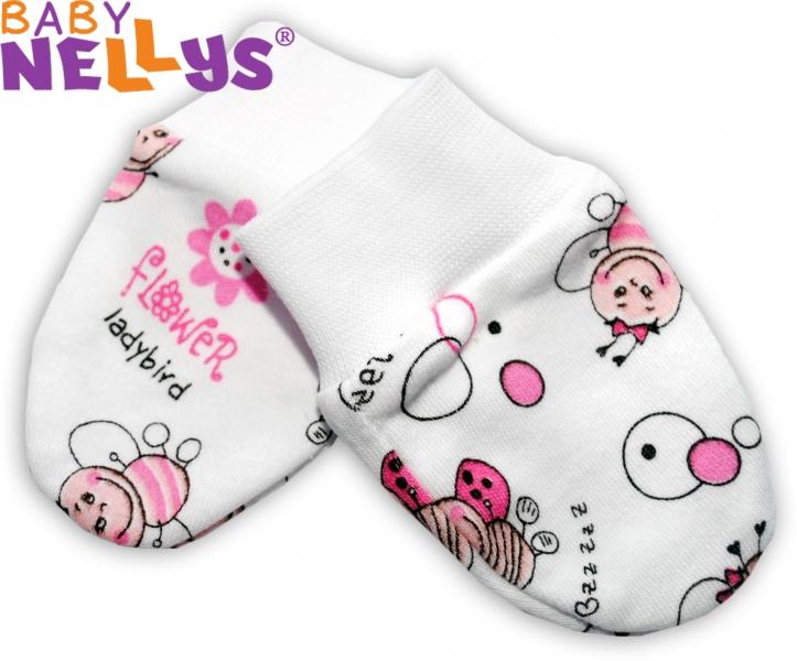 Dojčenské rukavičky Baby Nellys ® - Lienka Love