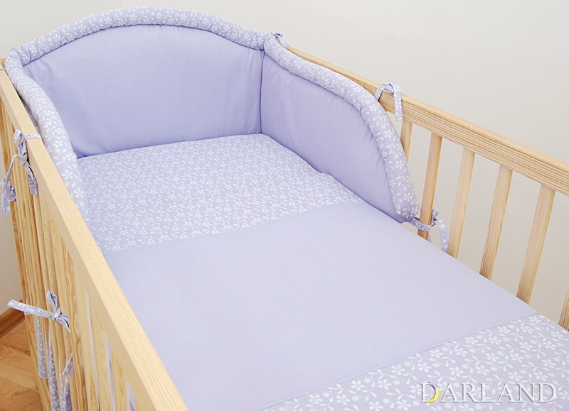 Mantinel s obliečkami Lúka fialová, 120x90