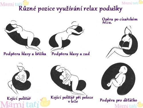 Dojčiaci vankúš - relaxačné poduška RELAX DELUXE lososová