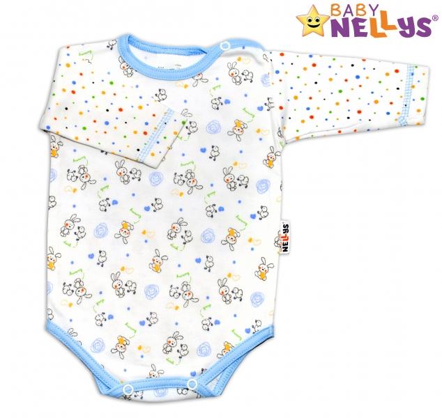 Body dl. rukáv Baby Nellys ® Králíček / puntík modrý