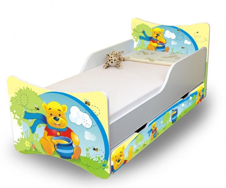 Detská posteľ a šuplík / y Medvedík s medom, 160x70