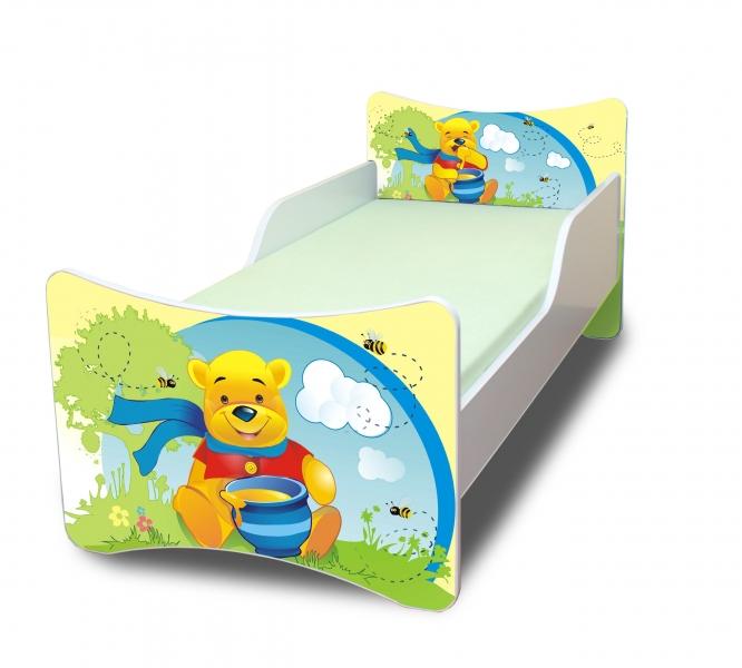 NELLYS Detská posteľ so zábranou Medvedík s medom - 180x80 cm