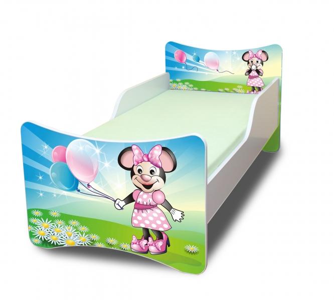 Detská posteľ Myška s balónikom, 140x70