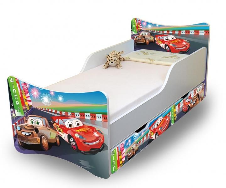 Detská posteľ a šuplík / y Autá 2., 160x70