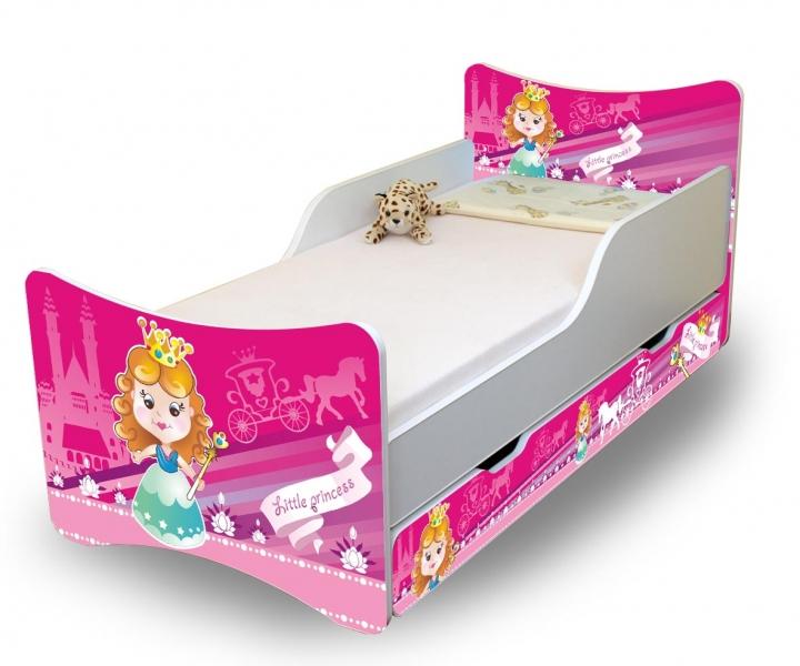 Detská posteľ a šuplík / y Malá princezná, 140x70
