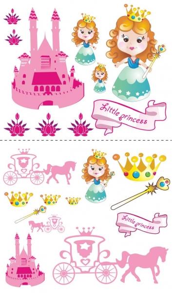 NELLYS Nálepky, dekorace na stnu 70x100 cm - Malá princezná