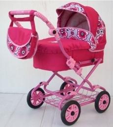 Kočík pre bábiky ružový