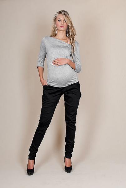 Be MaaMaa Tehotenské nohavice ALADINKY - Čierne-L (40)