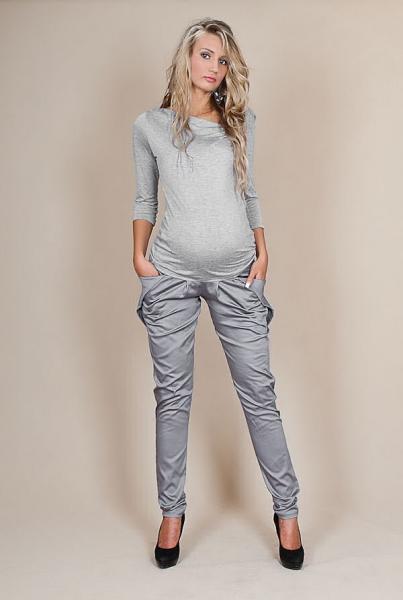 Tehotenské nohavice ALADINKY - Šedý popolček