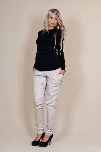 Tehotenské nohavice ALADINKY - Béžové, XL