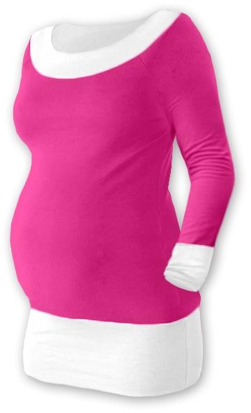 Tehotenská tunika DUO - ružová/biela