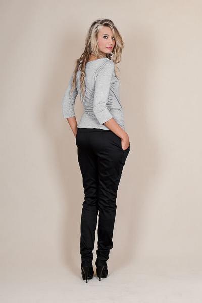Be MaaMaa Tehotenské nohavice s mašľou - Čierne