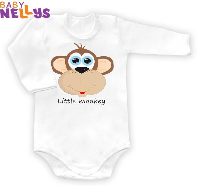 Body dl. rukáv Little Monkey - biele