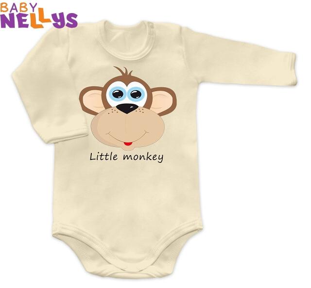 Body dl. rukáv Little Monkey - smotanovej
