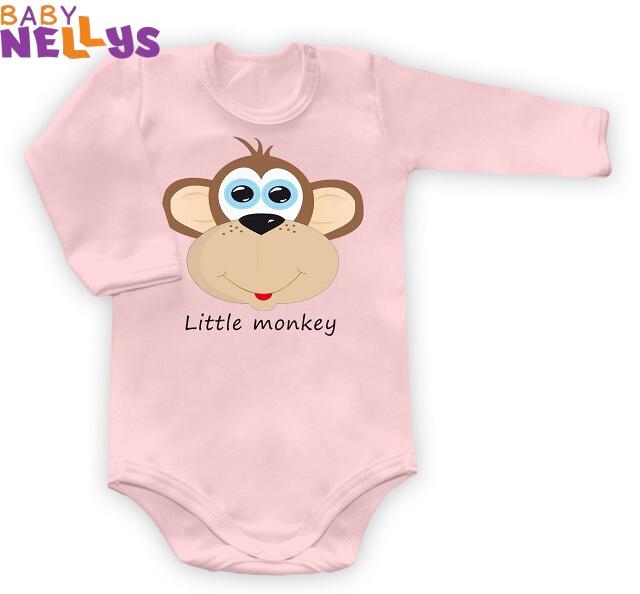 Body dl. rukáv Little Monkey - ružové