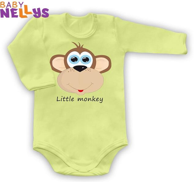 Body dl. rukáv Little Monkey - zelené