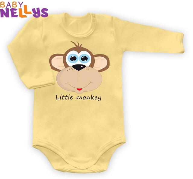 Body dl. rukáv Little Monkey - krémové žlté