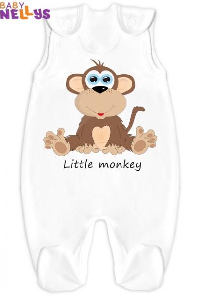 Dupačky Little Monkey - biele