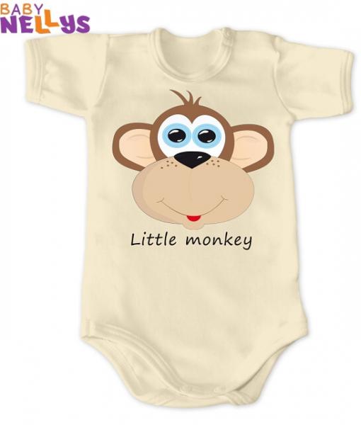 Body Kr. rukáv Little Monkey, ecru