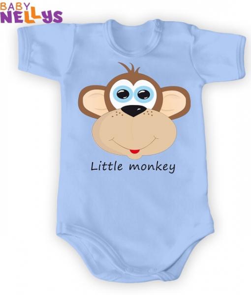 Body Kr. rukáv Little Monkey, modrá