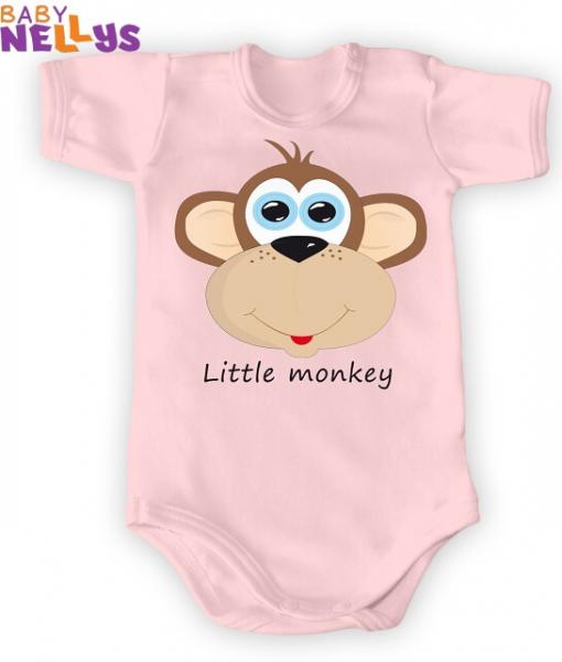 Body Kr. rukáv Little Monkey, ružová