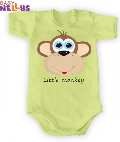 Body Kr. rukáv Little Monkey, zelená