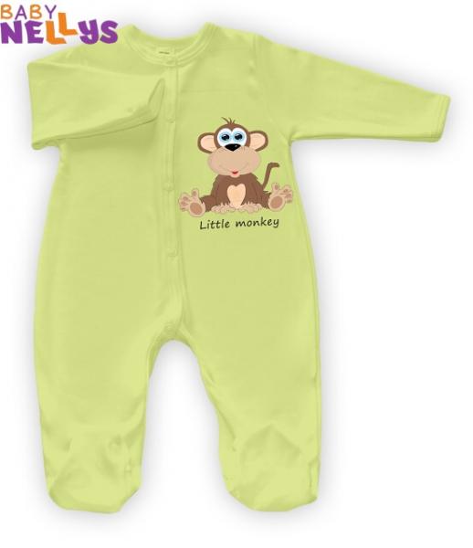 Overal Little Monkey Baby Nellys - zelený