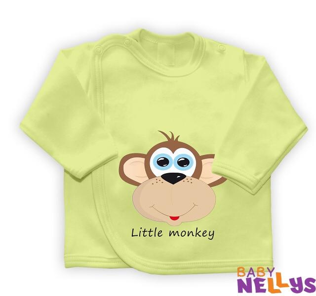 Košieľka so zap. na boku Little Monkey, zelená