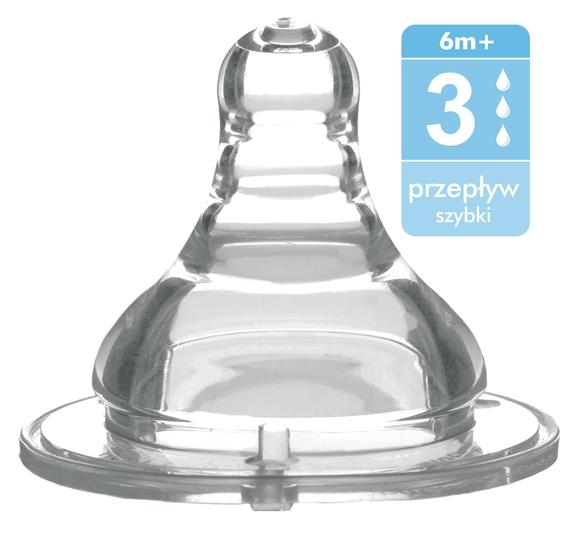 BabyOno Antikoliková širokootvorová cumlík - 6m +