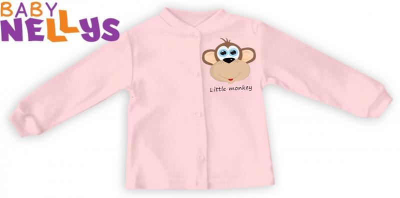 Baby Nellys Košieľka Little Monkey - ružová