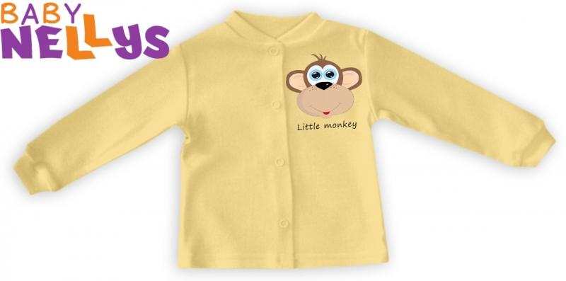 Košieľka Little Monkey - krémová / žltá, 62 (2-3m)