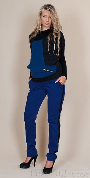Tehotenské nohavice Karolina - Modré, L