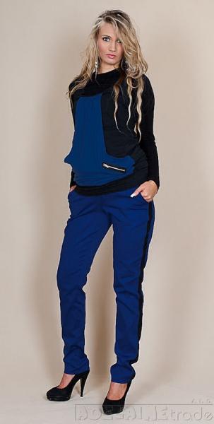 Tehotenské nohavice Karolina - Modré, XL