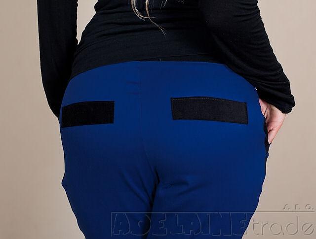 Be MaaMaa Tehotenské nohavice Karolina - Modré