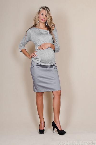 Tehotenské sukne Melanie - sivý popolček