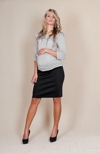 Tehotenské sukne Melanie - čierna