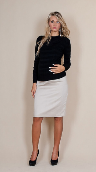 Be MaaMaa Tehotenské sukne Melanie - béžová
