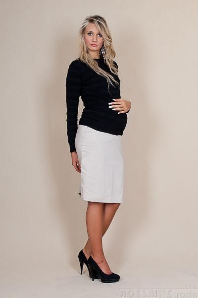 Tehotenská sukňa Melanie - béžová