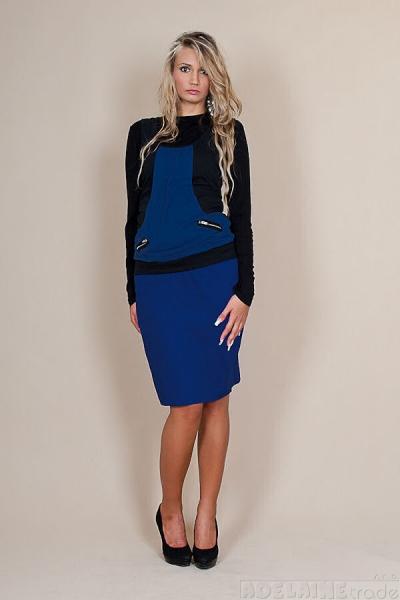 Tehotenská sukňa Melanie - modrá