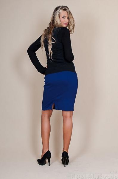 Be MaaMaa Tehotenské sukne Melanie - modrá