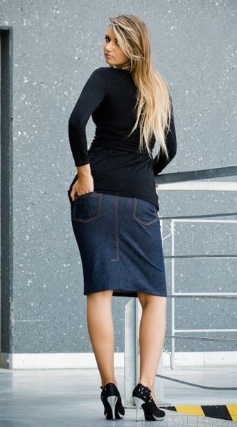 Be MaaMaa Tehotenské sukne SARA - modrá