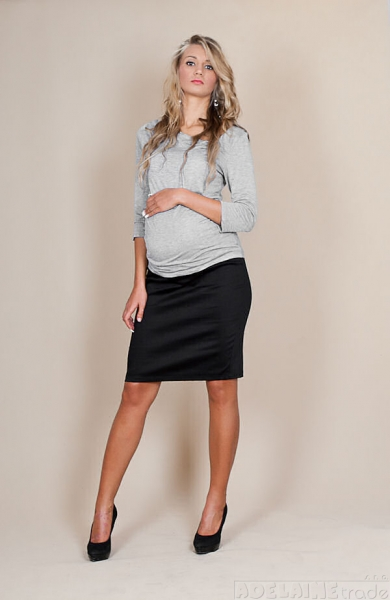 Be MaaMaa Tehotenské sukne Melanie - čierna